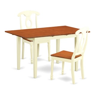 NOKE3-WHI-W 3-piece Dining Table Set