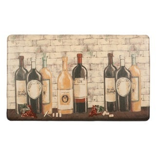 Home Fashion Designs Bennett Collection 'Wine Bottles' Printed Anti-fatigue Comfort Mat