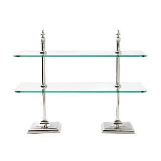 Hip Vintage Clear Glass Creperie Stand