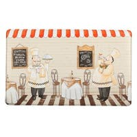 Home Fashion Designs Bennett Collection '2 Chefs' Printed Anti-fatigue Comfort Mat