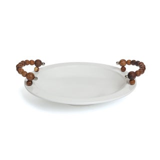 Beaded White Platter