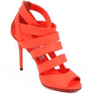 Jimmy Choo Women's Sandals 141DAME Neon Nappa Flame