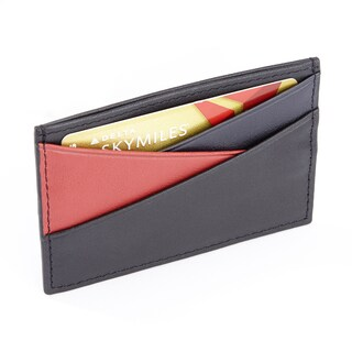 Royce Black Top Grain Nappa Leather Minimalist RFID Theft Protection Three-color Credit Card Wallet