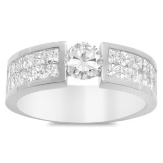 Artistry Collections Men's 14k White Gold 3.75-ct TDW Diamond Ring