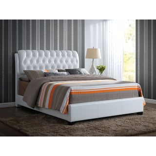 Ireland II White PU Eastern King Bed (1Set/2Ctn)