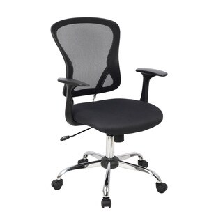 CorLiving WHL-605-C Black Mesh-back Contoured Office Chair