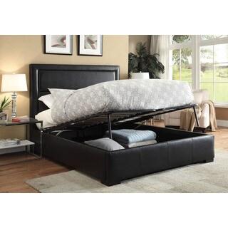 Salem Queen Bed Black PU (1Set/3Ctn)