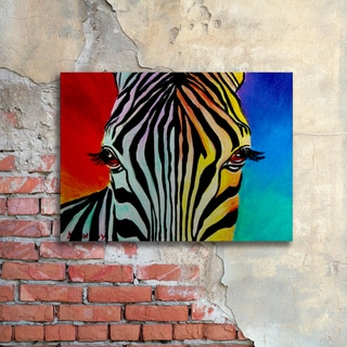 DawgArt 'Zebra' Floating Brushed Aluminum Art