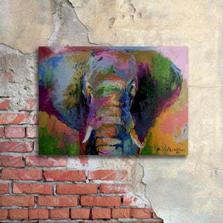 Richard Wallich 'Elephant 2' Floating Brushed Aluminum Art
