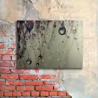 Beata Czyzowska Young 'Forgotten Wishes' Floating Brushed Aluminum Art