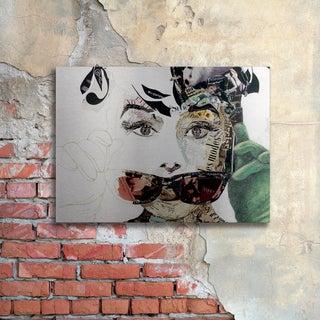 Ines Kouidis 'Audrey' Floating Brushed Aluminum Art