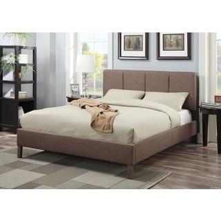 Rosanna Light Brown Linen Eastern King Bed