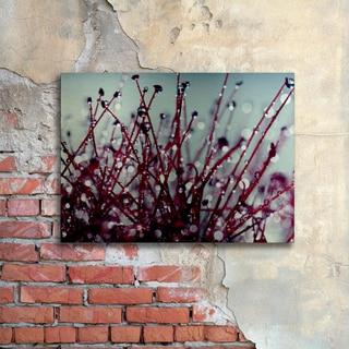 Beata Czyzowska Young 'Morning Tunes' Floating Brushed Aluminum Art