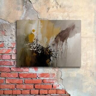 Rio 'Abstract I' Floating Brushed Aluminum Art