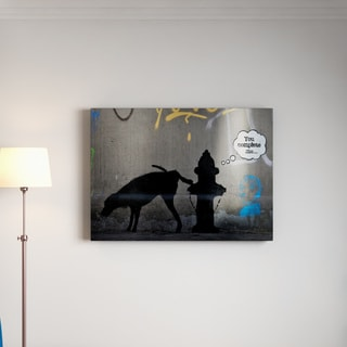 Banksy 'You Complete Me' Floating Brushed Aluminum Art