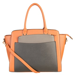 Rimen & Co. Double-top Handle Large Tote Bag with Removabel Strap