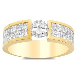 Artistry Collections 14k Yellow Gold 3 3/4 ct TDW Diamond Men's Ring