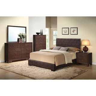 Ireland III Brown Faux-leather Full-sized Bed