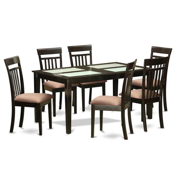 Shop Cappuccino Finish Rubberwood 7-piece Dining Room Set