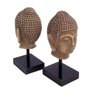 Bey Berk Resin Cast Bhudda Head Bookends