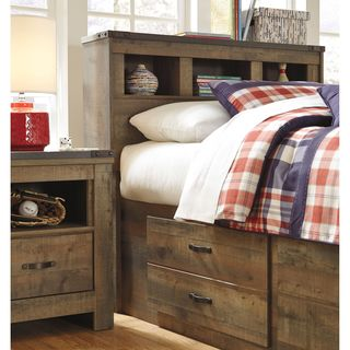 Signature Design by Ashley Trinell Brown Bookcase Headboard
