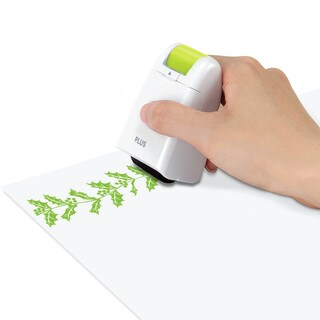 PLUS Holly Decoration Self-Inking Stamp Roller