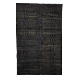 Hand-knotted Brown Wool and Silk Nepali Oriental Rug (5'2 x 8')