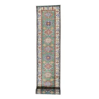 Super Kazak Tribal Design XL Hand-knotted Runner Carpet (2'10 x 21'2)