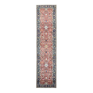 Hand-knotted Heriz All-over Design Runner Rug (3'1 x 13')
