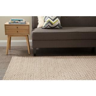 Jani Peri Tan/Beige Wool/Jute Rug (5' x 8')