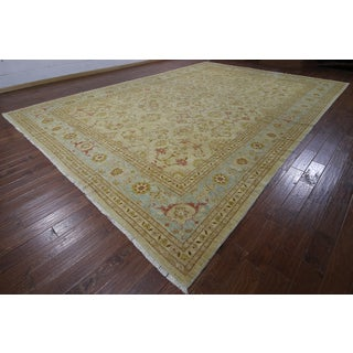 Peshawar Ivory Wool Hand-knotted Oriental Rug (12'2 x 17'1)