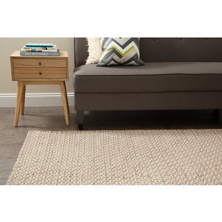 Jani Peri Tan Wool and Jute Rug (8' x 10')