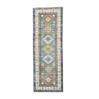 Super Kazak Tribal Design Multicolored Wool Runner Rug (2'6 x 7'2)