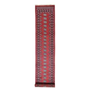 Hand-knotted Red Turkoman Bokara XL Runner Carpet (2'6 x 14')
