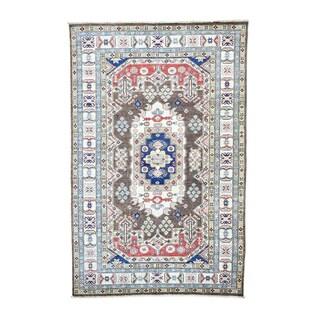 Hand-knotted Super Kazak Tribal Design Rug (5'9 x 9')