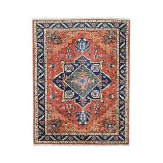 Ersari and Heriz Red Hand-knotted Wool Afghan Rug (4'10 x 6'3)