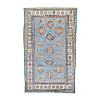 Super Kazak Tribal Pure Wool Hand-Knotted Rug (5'7 x 9')