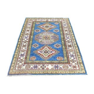 Pure Wool Hand-knotted Super Kazak Tribal Design Rug (3'4 x 4'10)