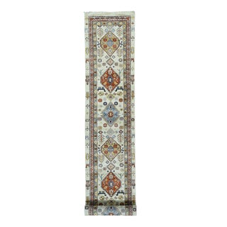 Hand-knotted Ivory Wool XL Runner Northwest Persian Design Rug (2'8x16')