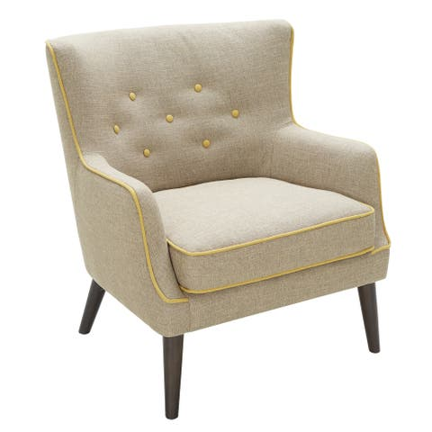 LumiSource Sedgewick Grey Accent Chair