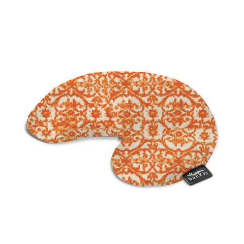 Bucky Minnie Orange/Off-white Fabric Compact Damask Neck Pillow With Snap and Go