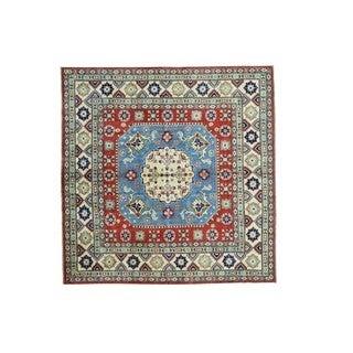 Hand-knotted Square Kazak Geometric Design Rug (6'9 x 6'9)