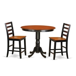 TRFA3-BLK-W 3-piece Counter-height Dining Set