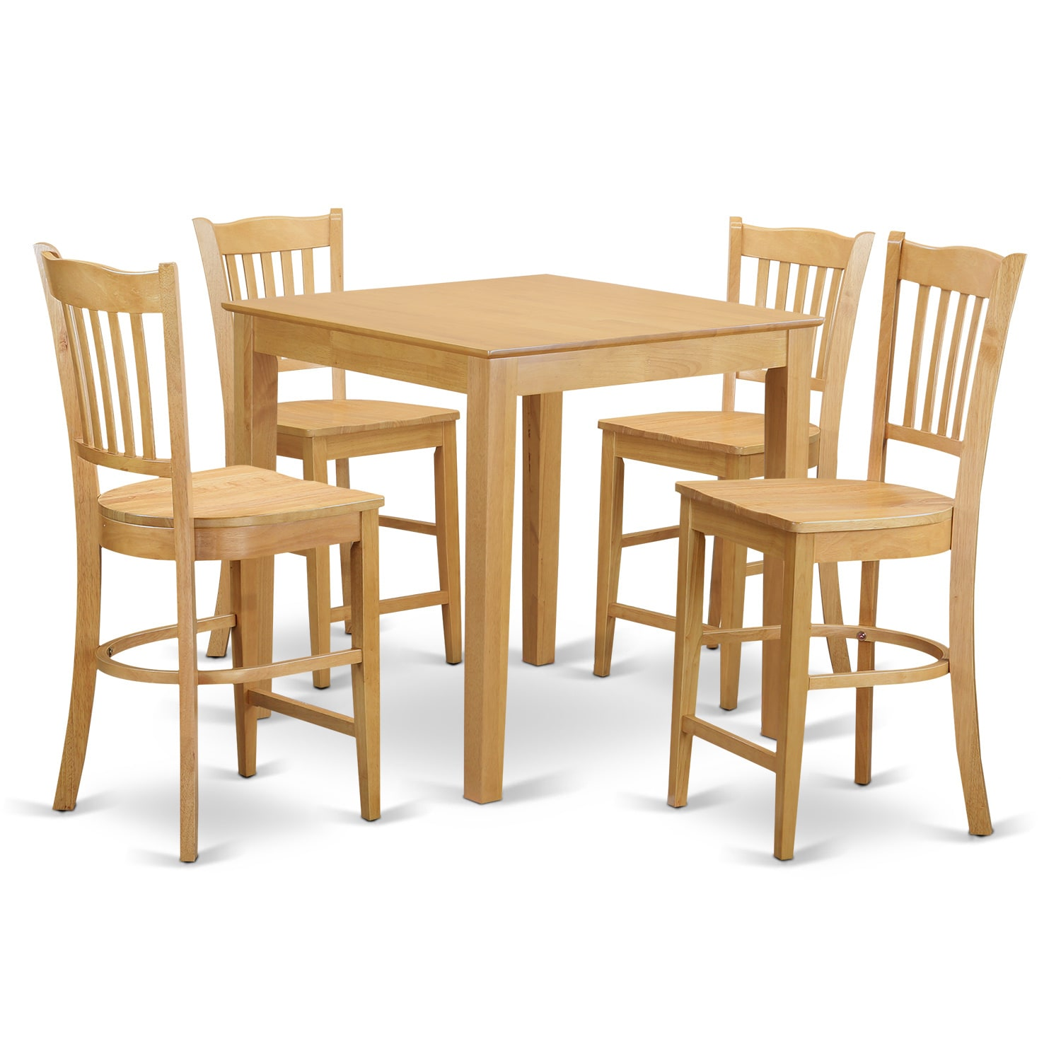 high top table and 4 counter height stool 5 piece pub table set ebay. Black Bedroom Furniture Sets. Home Design Ideas