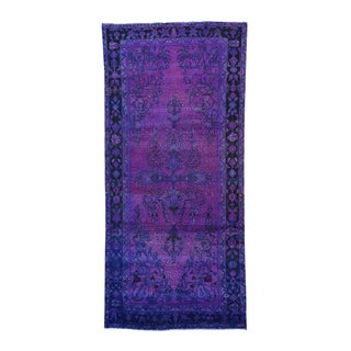 Persian Lilihan Over-dyed Hand-knotted Wide Runner Rug (5'6 x 11'10)