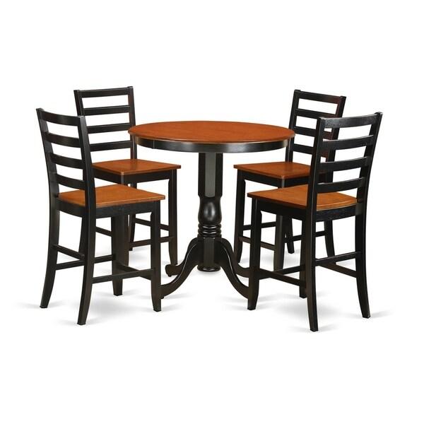 Ashland Black Counter Height 5 Piece Dining Set: Shop JAFA5-BLK-W 5-piece Counter-height Dining Table Set
