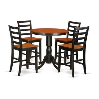 JAFA5-BLK-W 5-piece Counter-height Dining Table Set