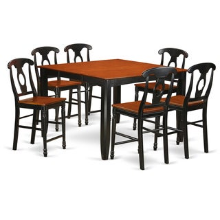 FAKE7H-BLK-W 7-piece Counter Height Pub Set