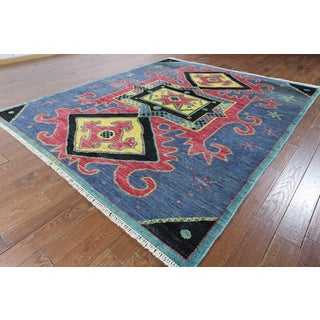 Kaitag Blue Wool Oriental Hand-knotted Rug (8'7 x 10'0)