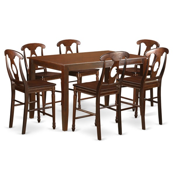 duke7h mah w high top table 6 chair 7 piece counter height pub set free shipping today. Black Bedroom Furniture Sets. Home Design Ideas